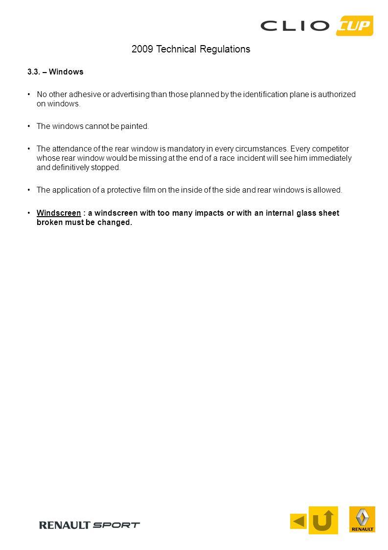 2009 Technical Regulations 3.3.