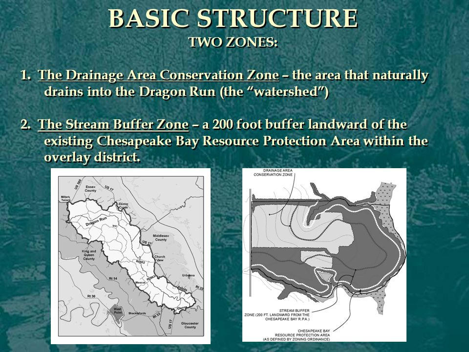 CONSERVATION SUBDIVISION OPTION OTHER KEY FEATURES: Criteria for designating Conservancy Lot Area Includes all sensitive natural areas, historic sites, habitats, Ches.