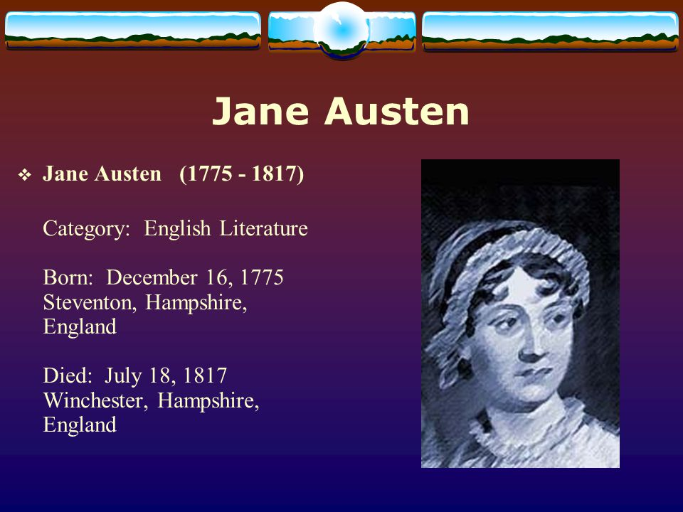 Notes on Jane Austen s relationship to the society of her day(1) The dramatic power of her characters led some nineteenth-century writers, including Macaulay and George Lewes, to regard her as no less than a prose Shakespeare.