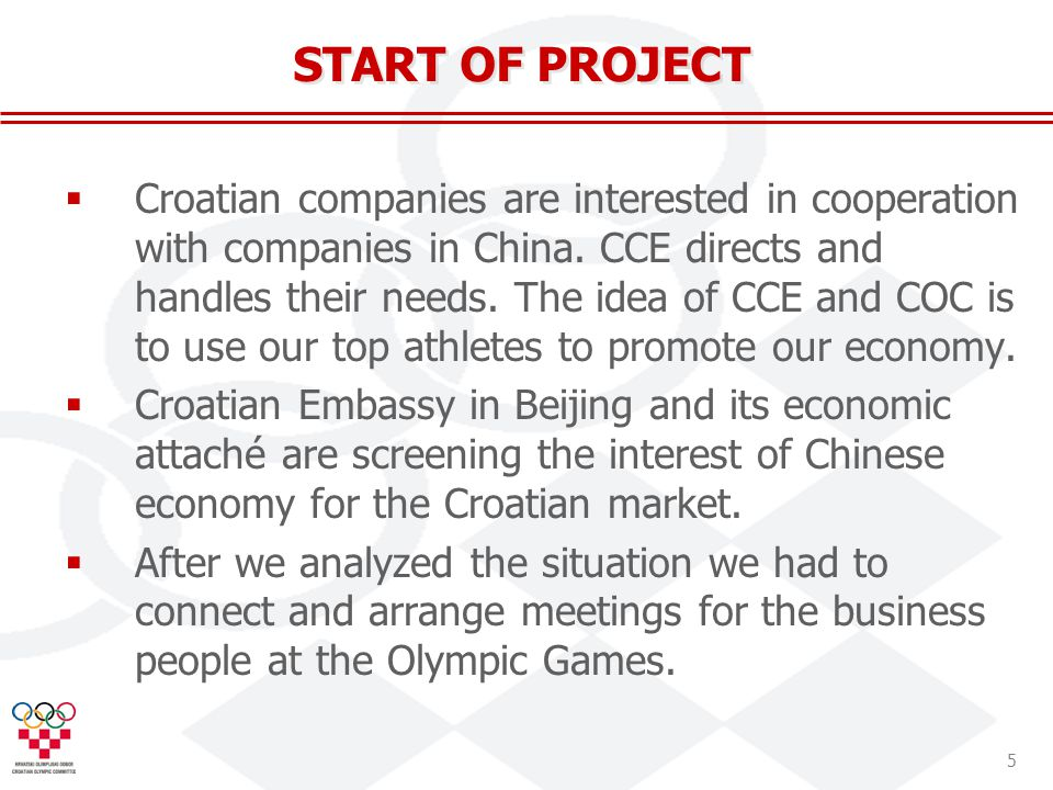 5 Croatian companies are interested in cooperation with companies in China.