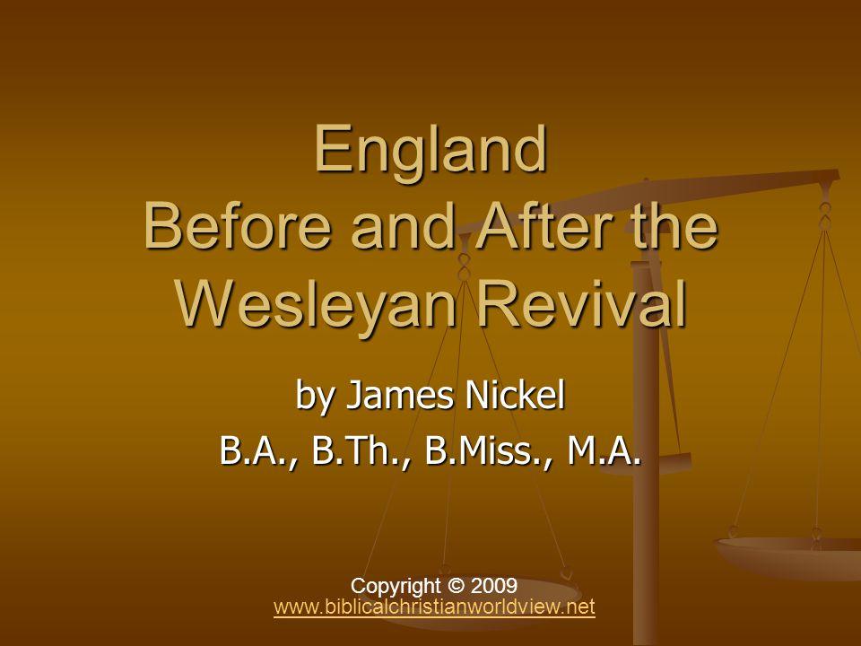 England After Wesley … Robert Raikes (1735-1811): Sunday schools (1780).