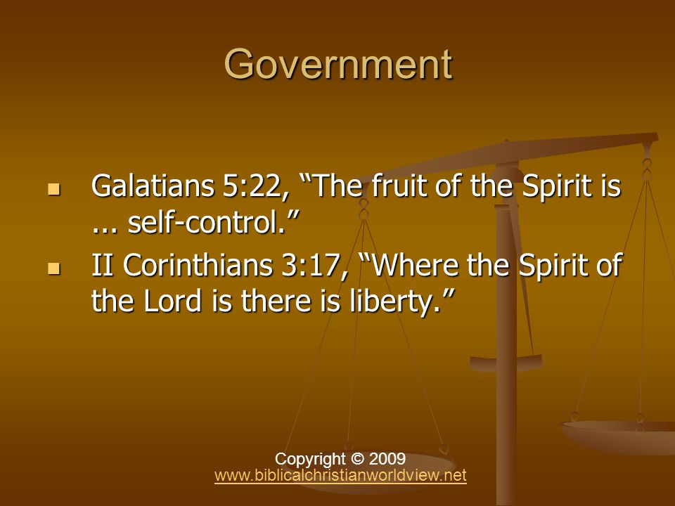 Government Government Self-government is the basis of civil government.