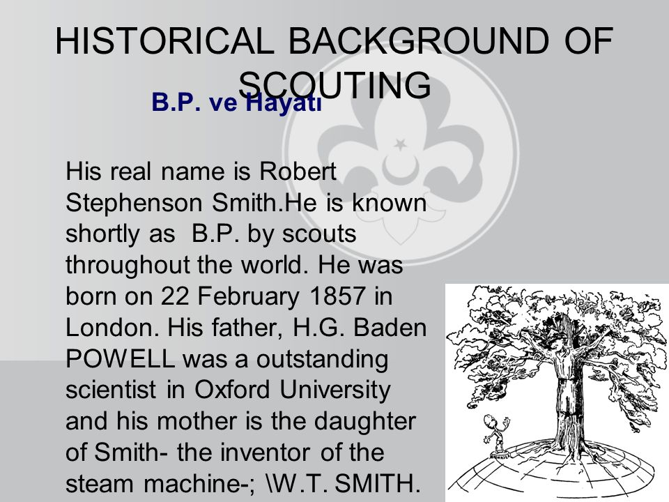 B.P. ve Hayatı His real name is Robert Stephenson Smith.He is known shortly as B.P.