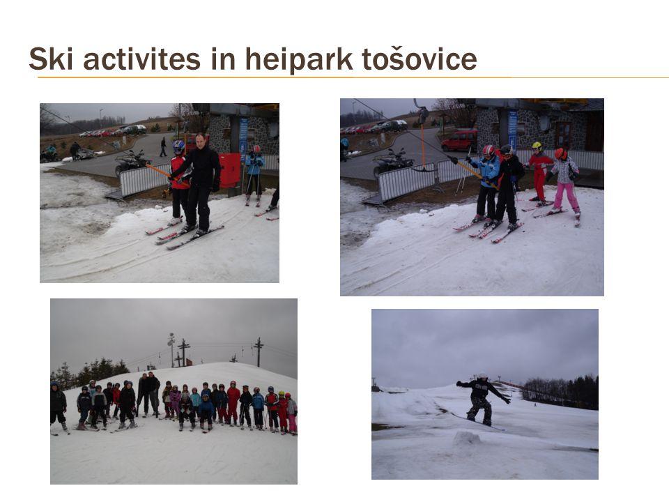 Ski activites in heipark tošovice