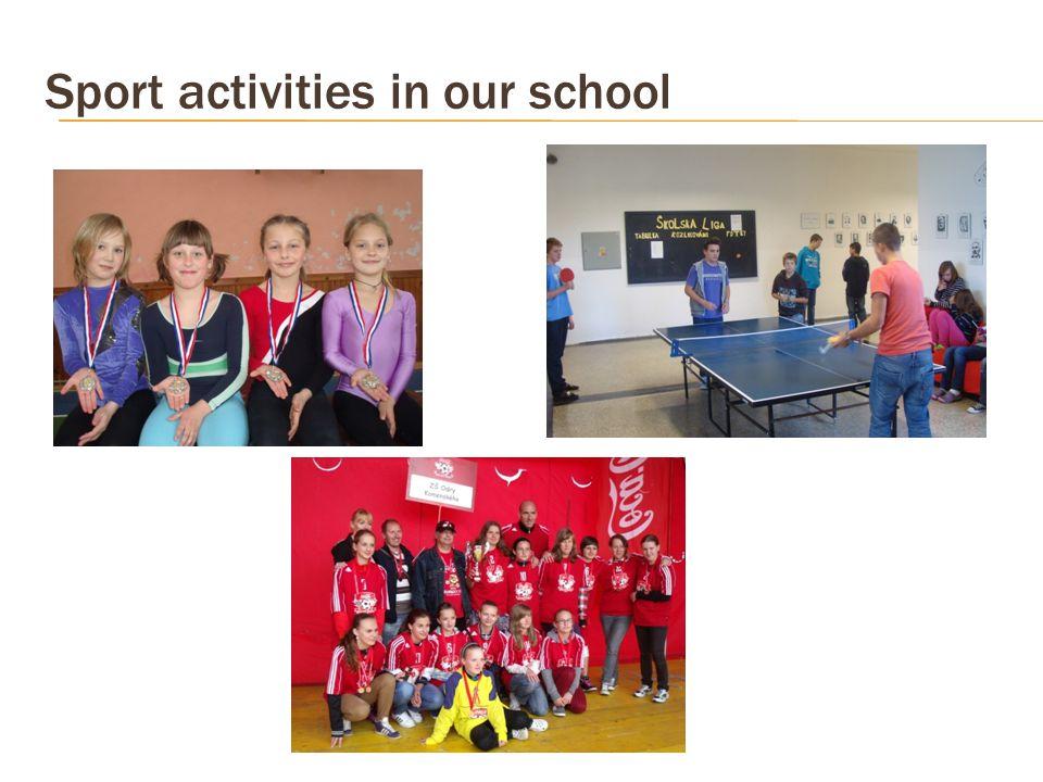Sport activities in our school