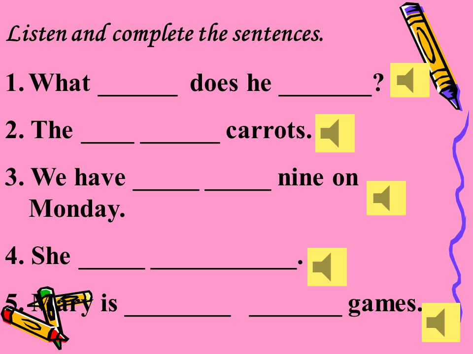 ( )10 A. Do you eat carrots? B. Does it eat fish? C. Do you drink tea? D. Does he drink milk?