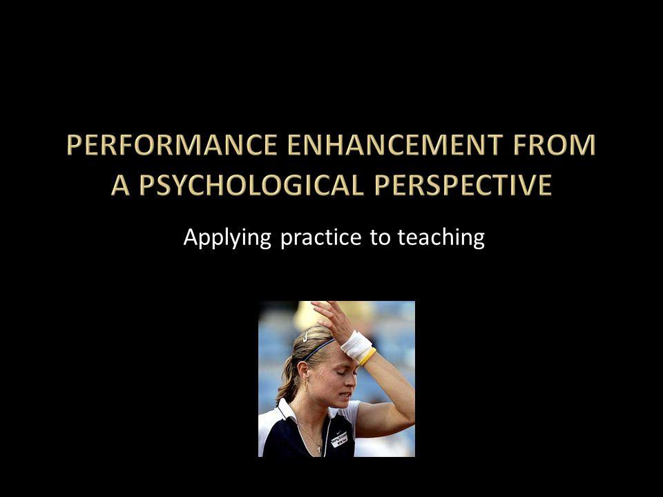 Applying practice to teaching