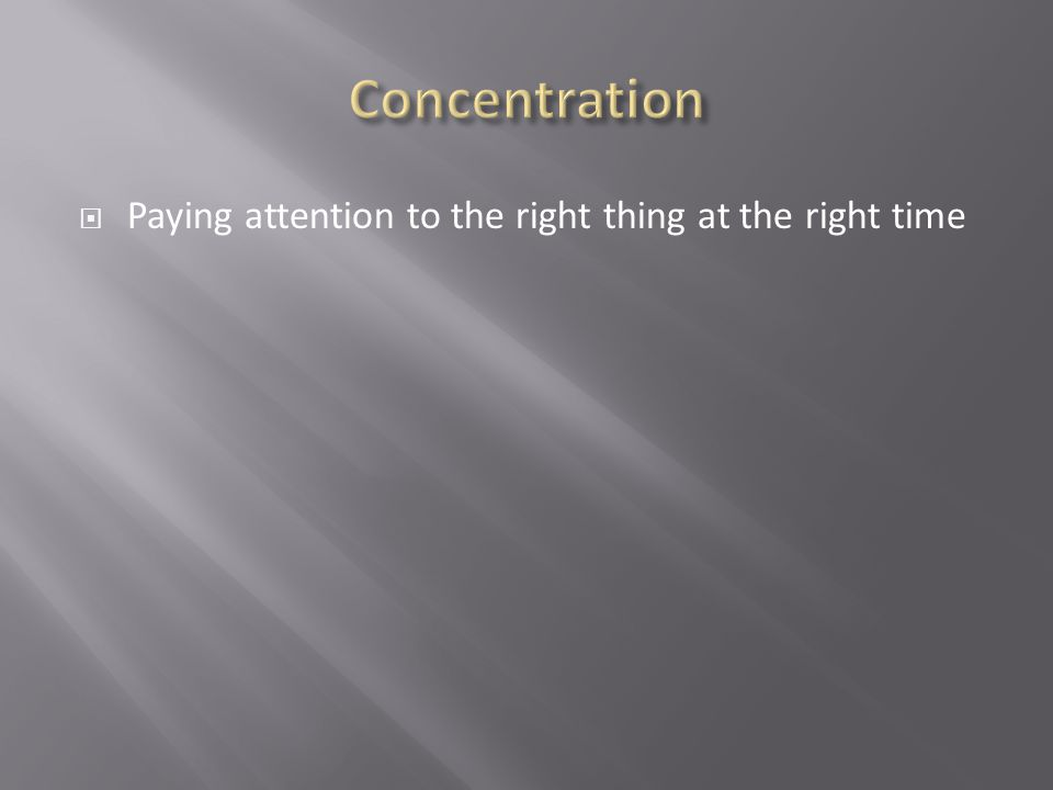 Paying attention to the right thing at the right time