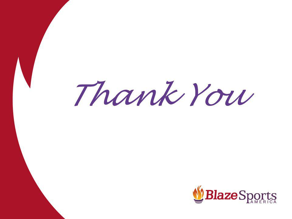 www.blazesports.org Thank You