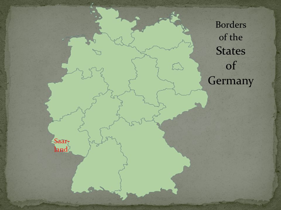 Borders of the States of Germany Saar- land