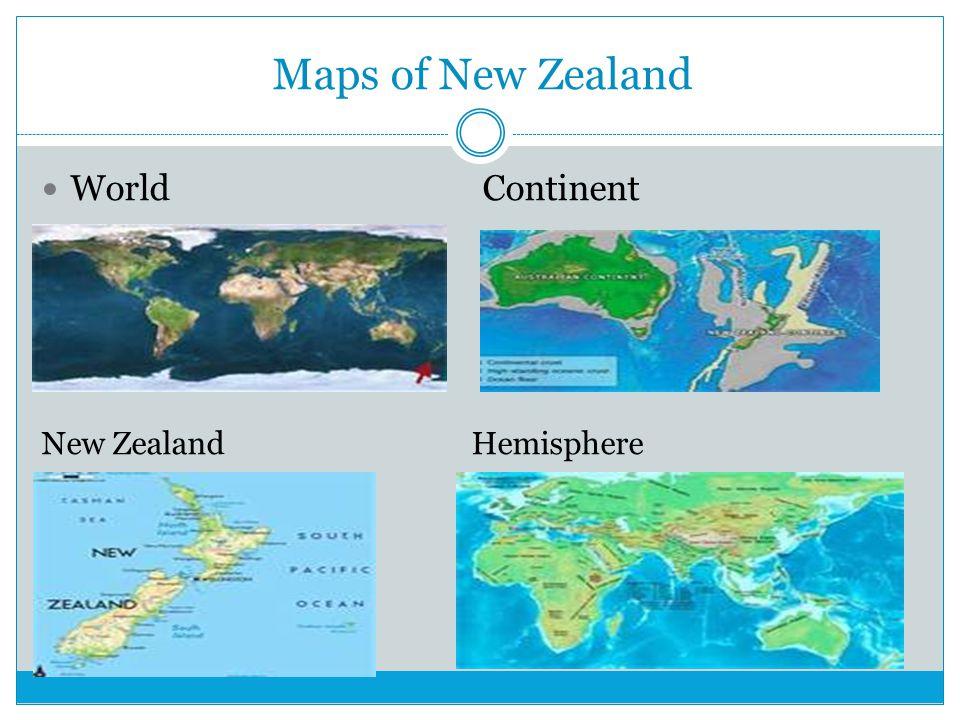 Maps of New Zealand World Continent New Zealand Hemisphere