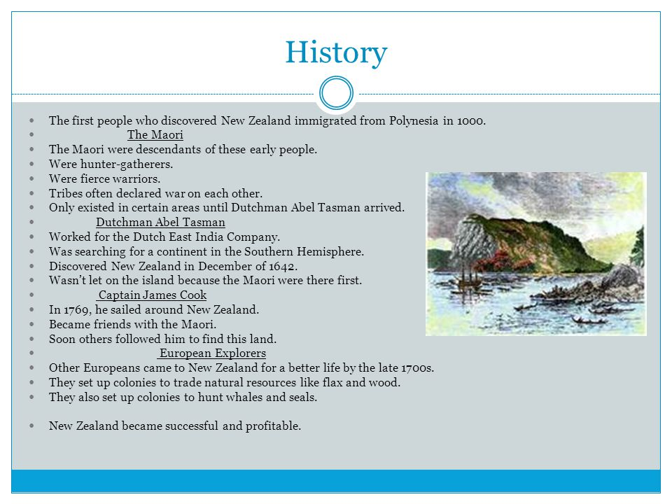 History The first people who discovered New Zealand immigrated from Polynesia in 1000.