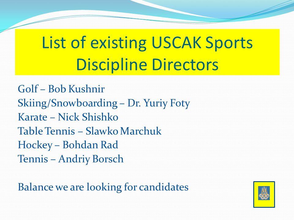 Golf – Bob Kushnir Skiing/Snowboarding – Dr.