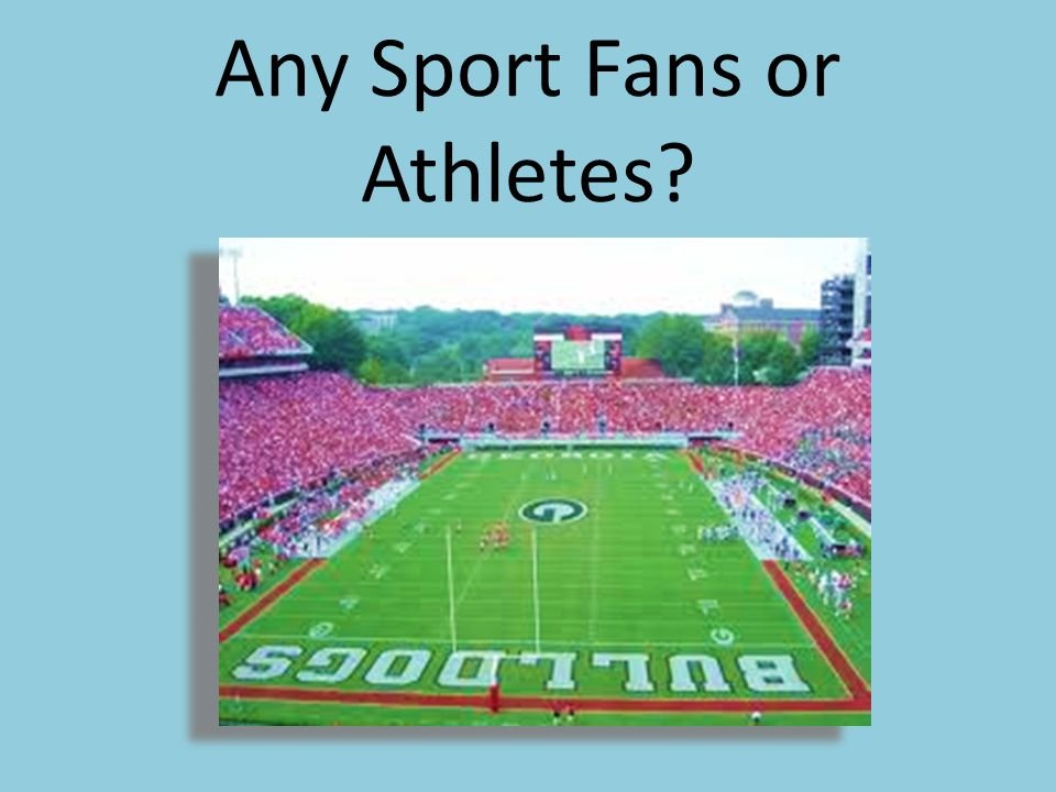 Any Sport Fans or Athletes?