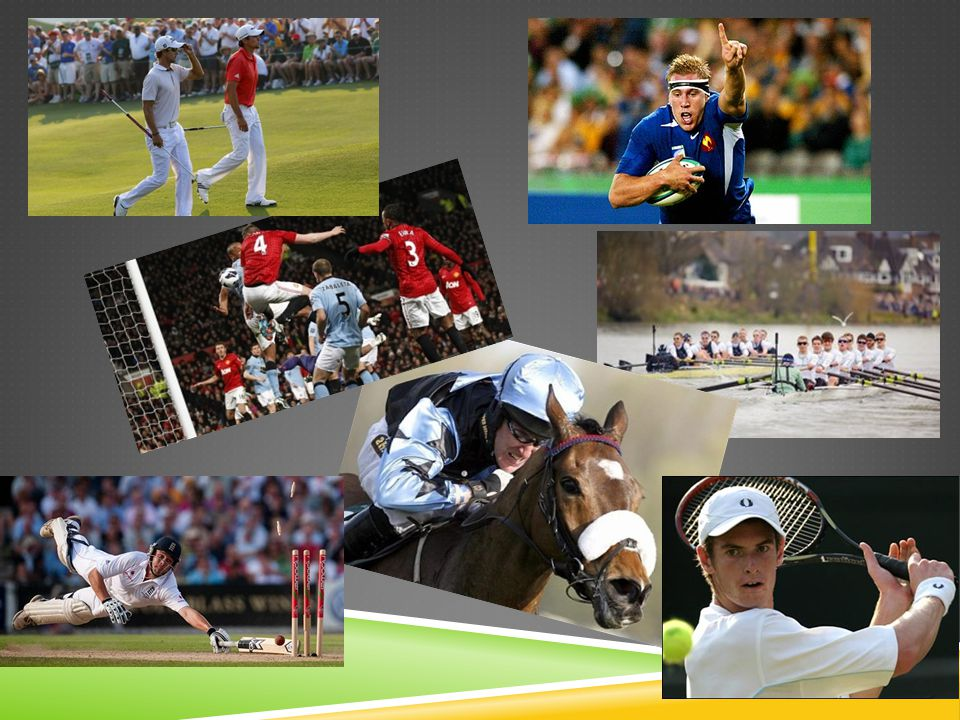 SPORT IN THE USA Typical sports in the USA are baseball, basketball, american football, ice hockey and others.