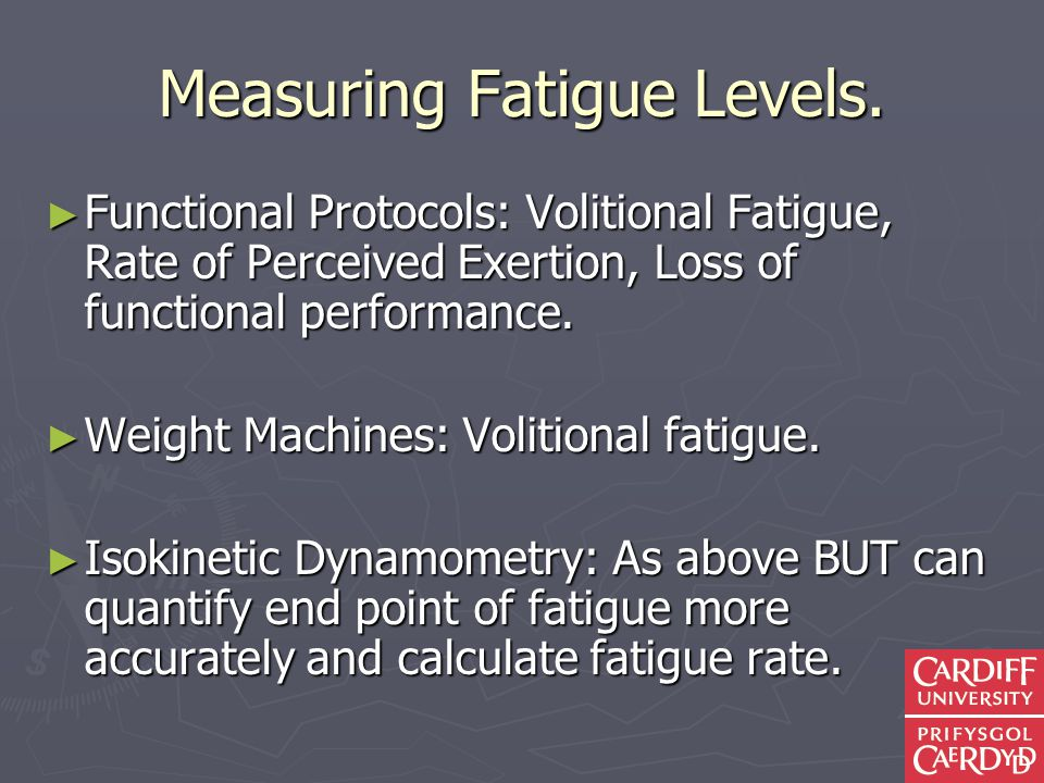 Measuring Fatigue Levels.