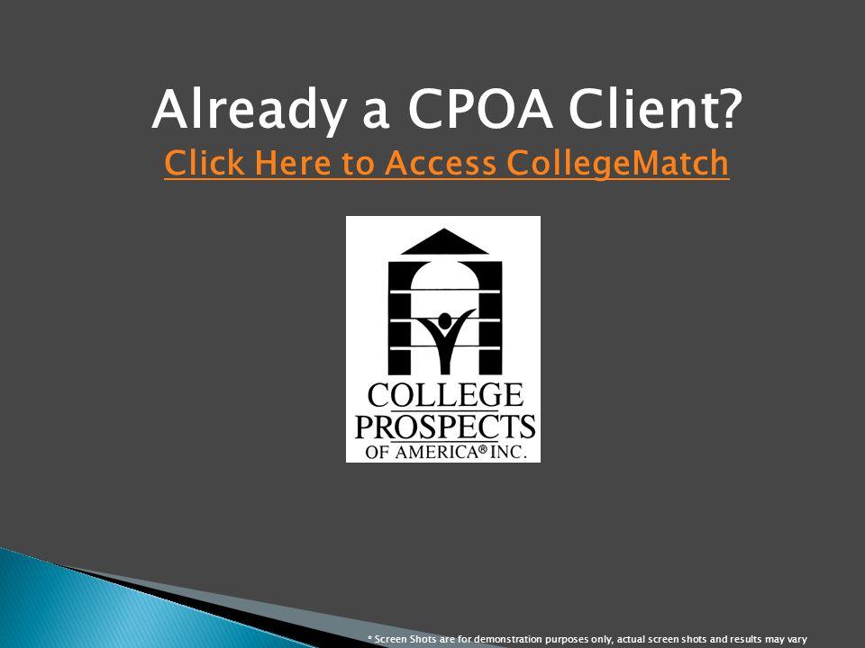 Already a CPOA Client.