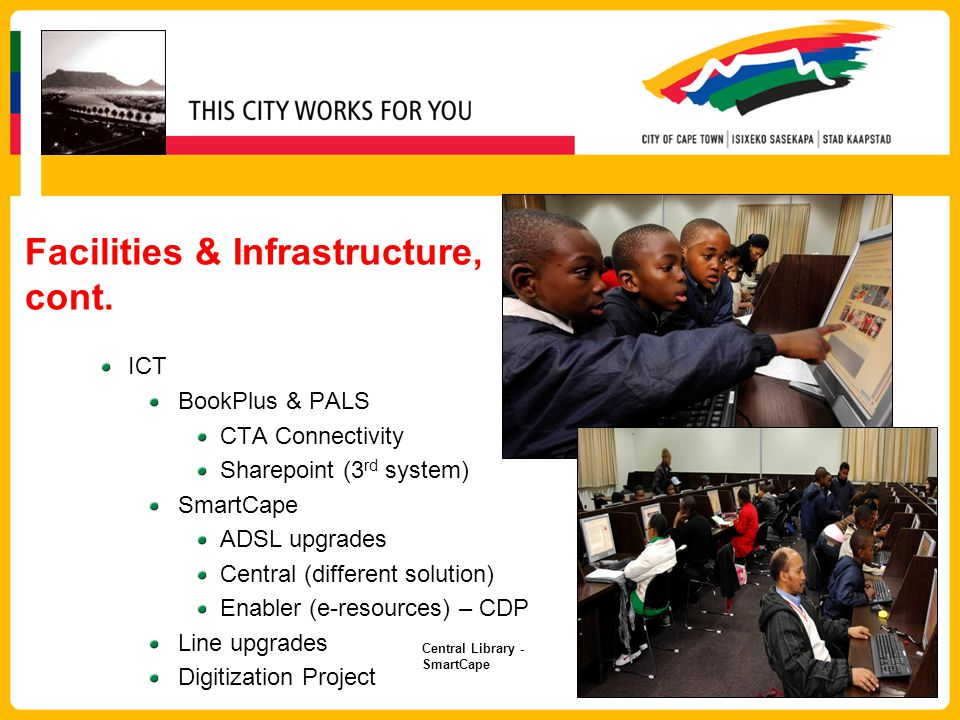 Facilities & Infrastructure, cont.