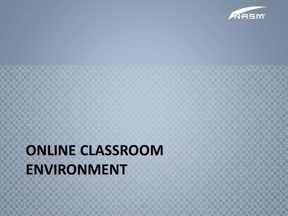 43 ONLINE CLASSROOM ENVIRONMENT