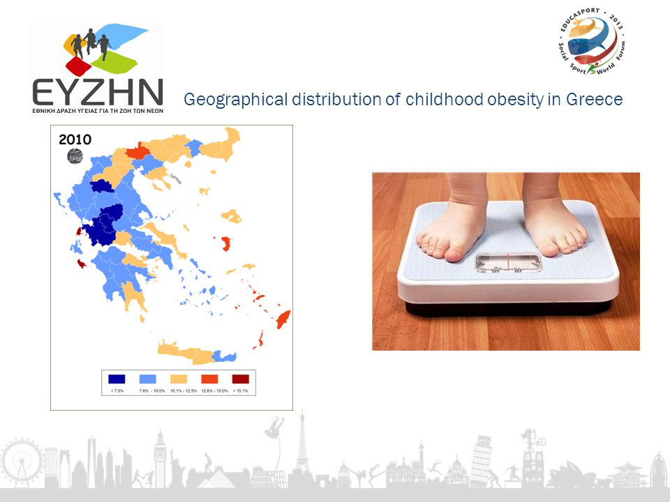 Geographical distribution of childhood obesity in Greece