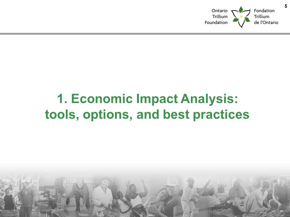 1. Economic Impact Analysis: tools, options, and best practices 5