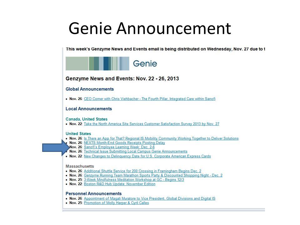 Genie Announcement