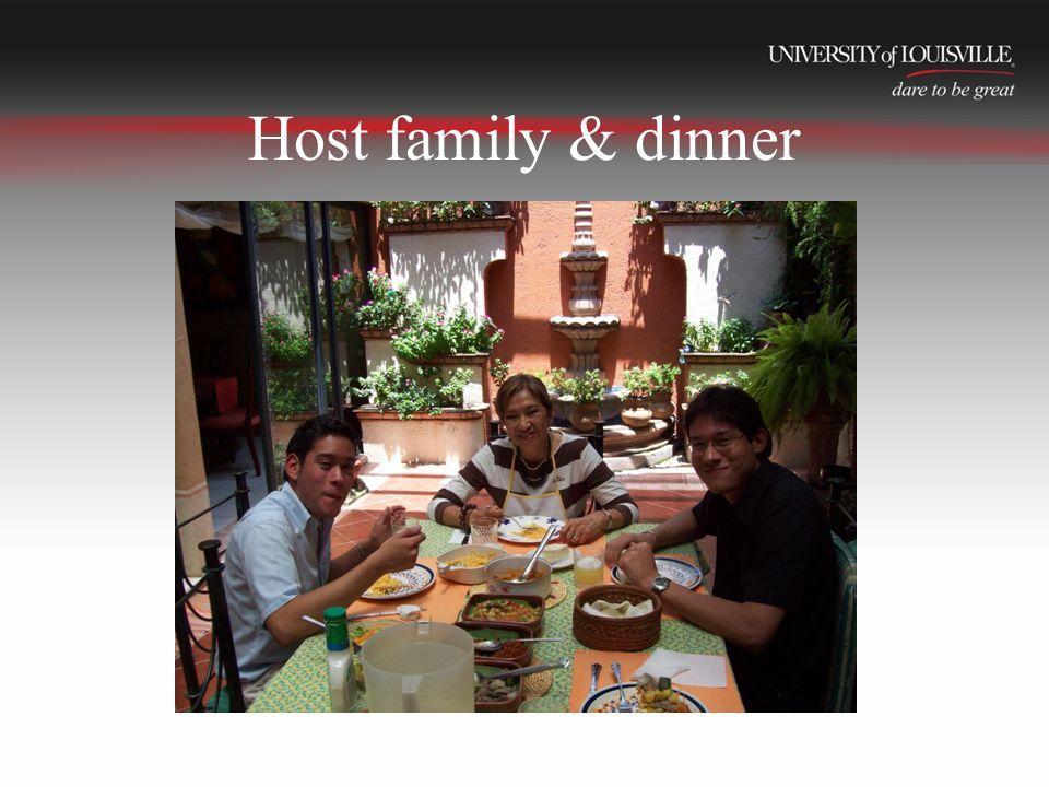 Host family & dinner