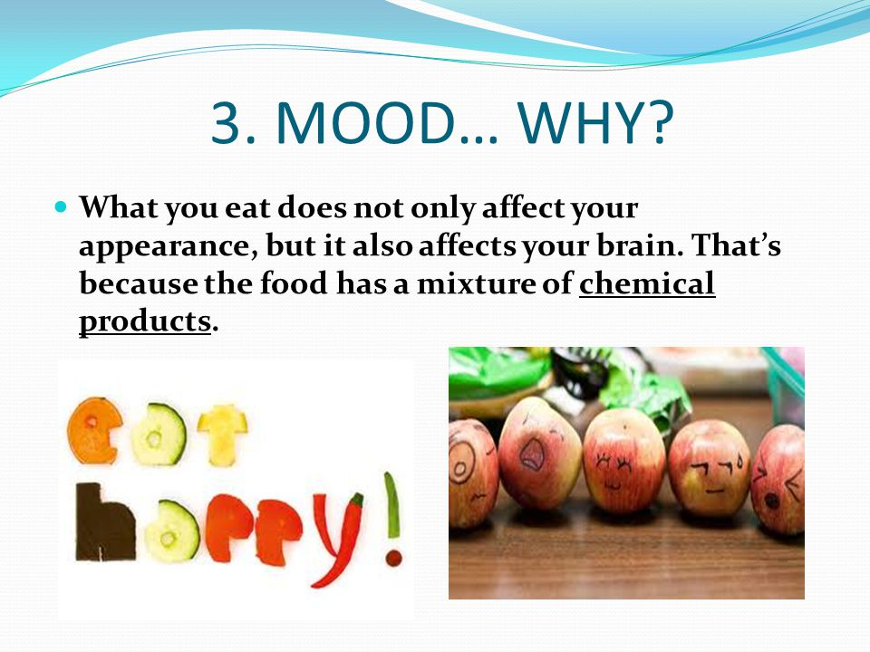 Choose different types of food.