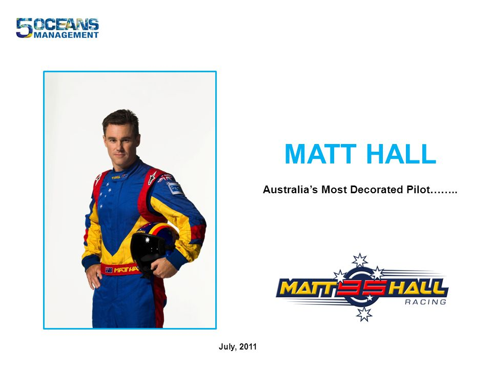 MATT HALL Australias Most Decorated Pilot…….. July, 2011