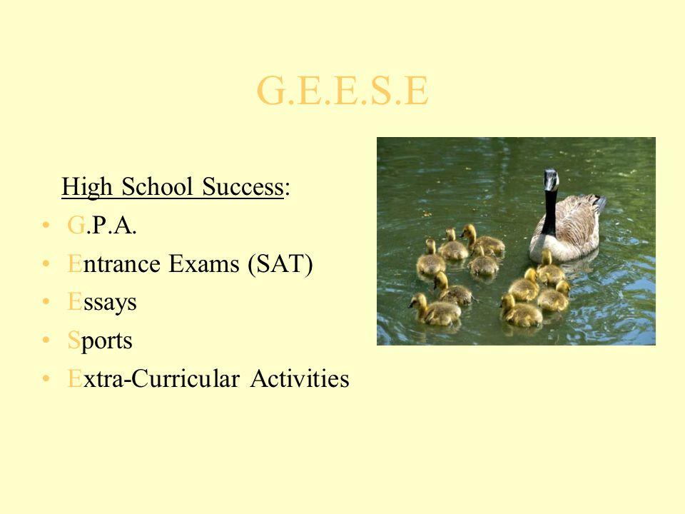 G.E.E.S.E High School Success: G.P.A.