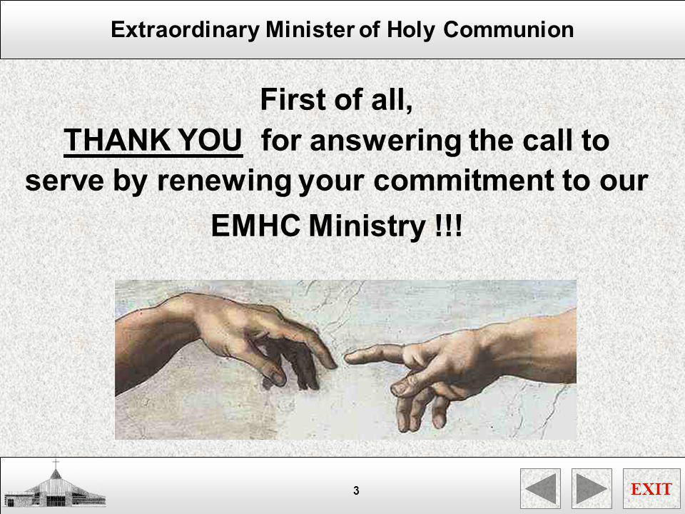 Extraordinary Minister of Holy Communion EXIT 44 SUMMARY XXXXxx DSFGDFGDG HGFHFGHF
