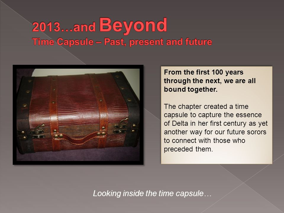Looking inside the time capsule… From the first 100 years through the next, we are all bound together.