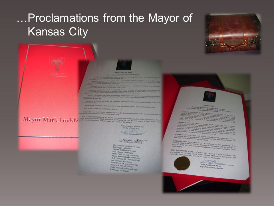 …Proclamations from the Mayor of Kansas City