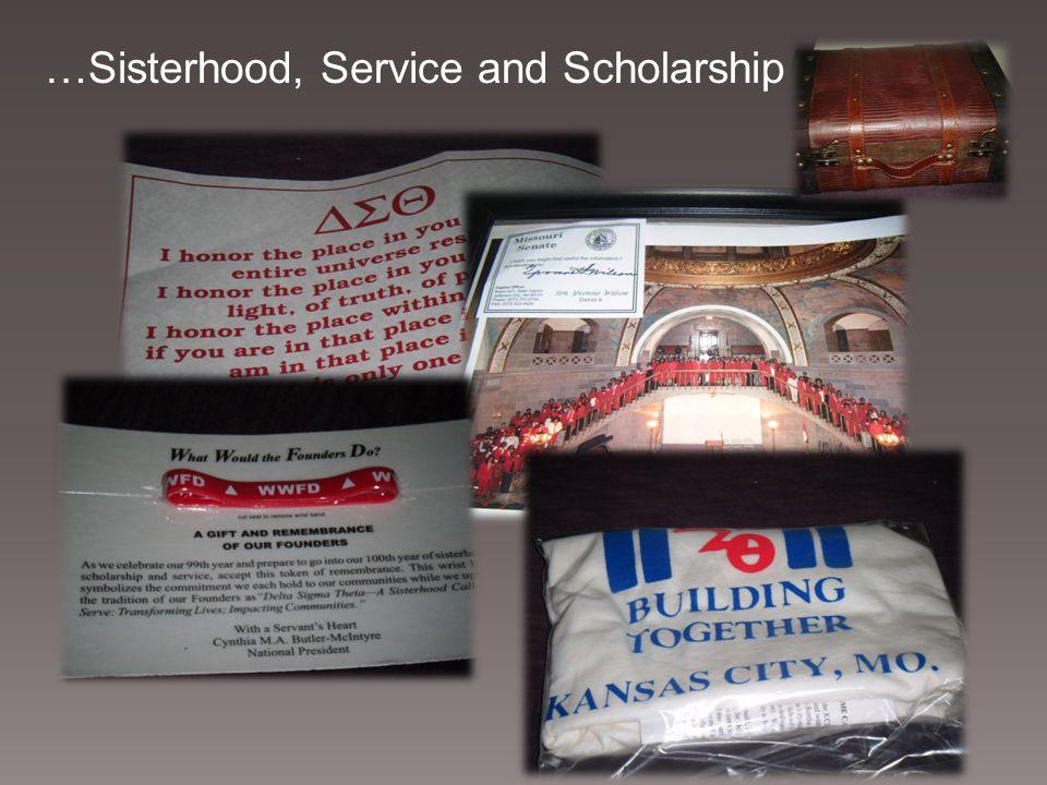 …Sisterhood, Service and Scholarship