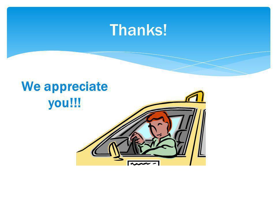 Thanks! We appreciate you!!!