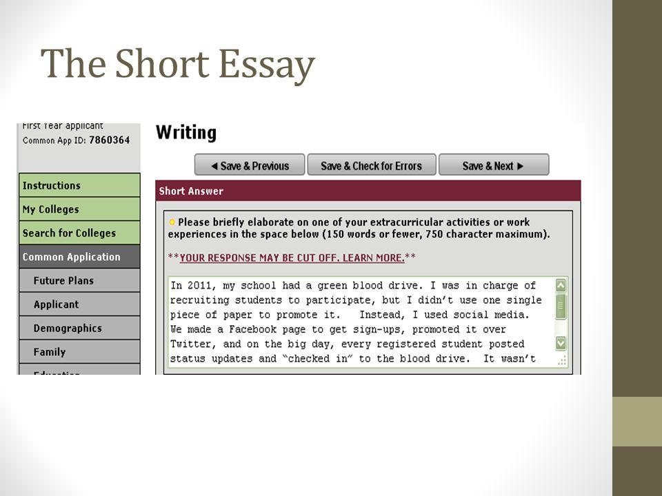 The Short Essay