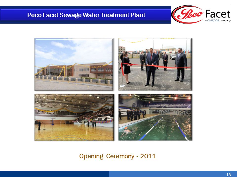 18 Opening Ceremony - 2011 Peco Facet Sewage Water Treatment Plant