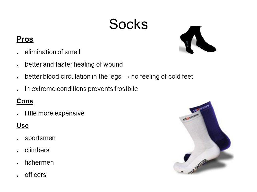 Socks Pros elimination of smell better and faster healing of wound better blood circulation in the legs no feeling of cold feet in extreme conditions