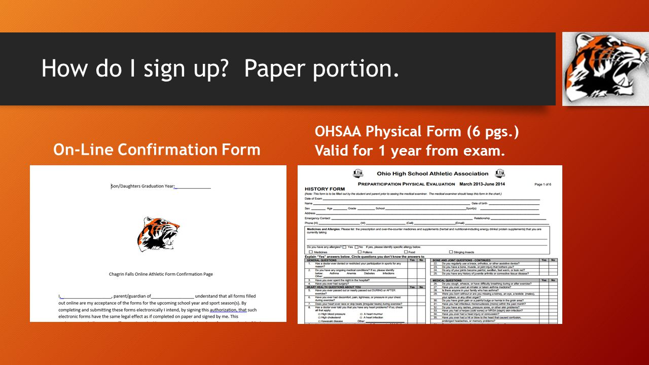 How do I sign up. Paper portion.