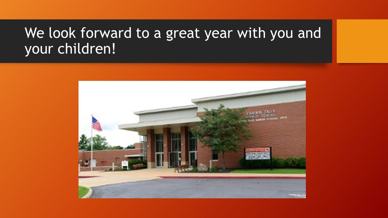We look forward to a great year with you and your children!