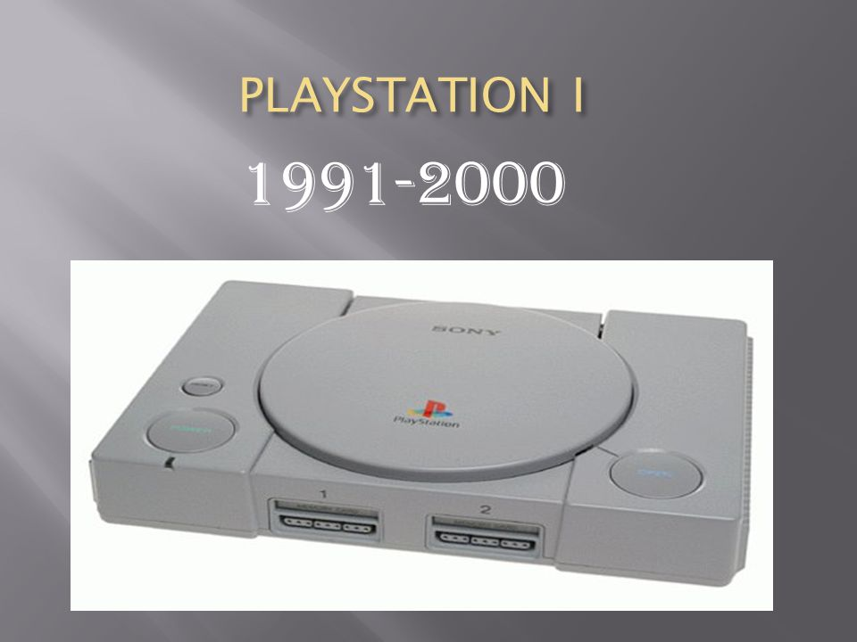 PLAYSTATION I PLAYSTATION I 1991-2000