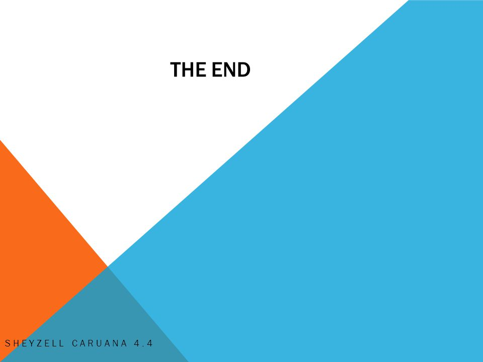 THE END SHEYZELL CARUANA 4.4