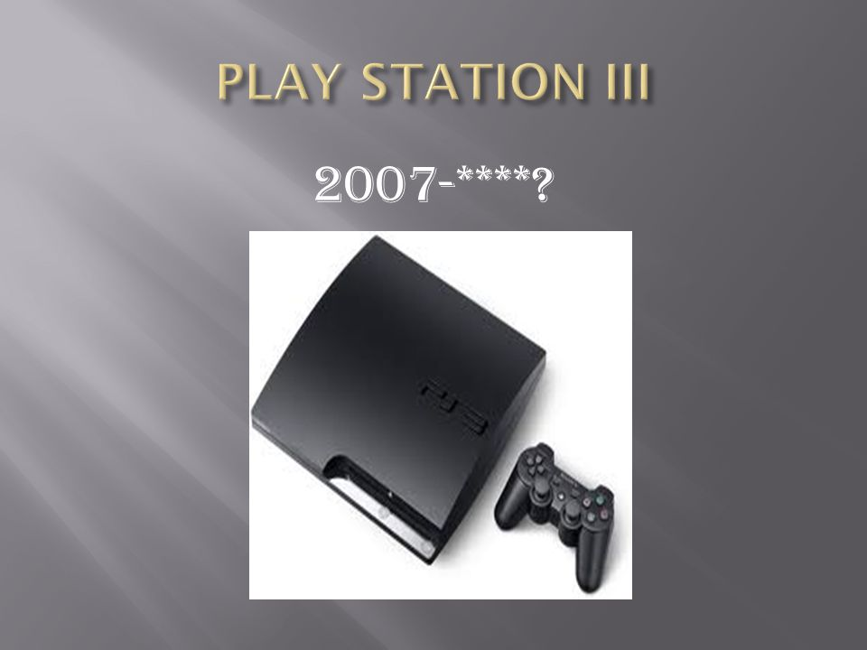 1.The PlayStation is a video game consoles created and developed by Sony Computer Entertainment.