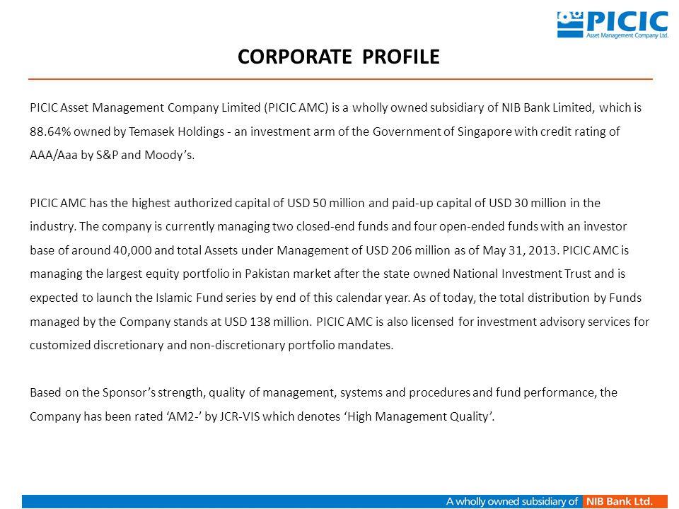 Retail Sales CONTACT US PICIC Asset Management Company Limited 3 rd Floor, PNSC Building, M.T.