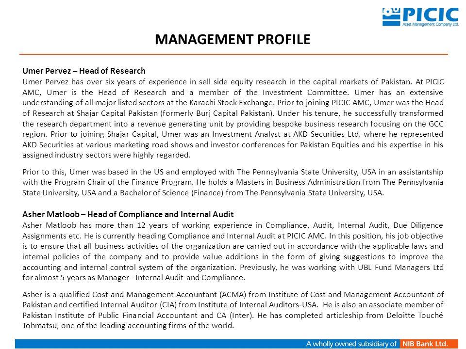Jaffar Ali Khan- Head of Human Resources Jaffar Ali Khan has joined PICIC AMC as Head of Human Resources.