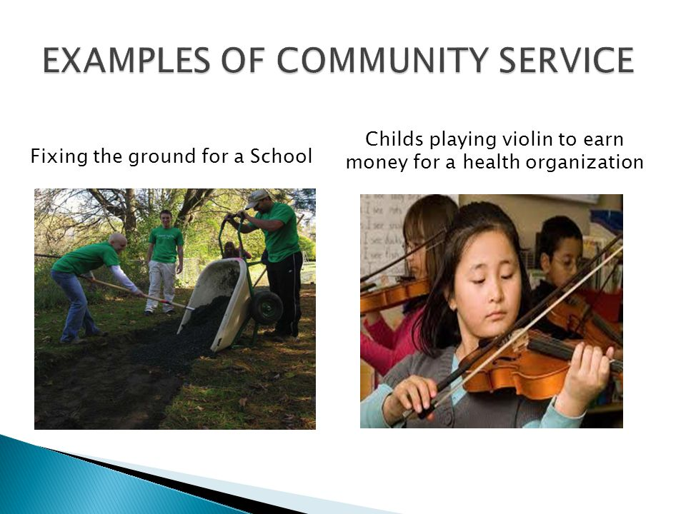 Fixing the ground for a School Childs playing violin to earn money for a health organization