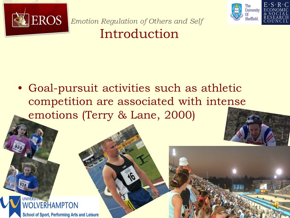 Emotion Regulation of Others and Self http://www.erosresearch.org/ Physiological correlates of emotion self-regulation during prolonged cycling performance Andy Lane University of Wolverhampton http://www.erosresearch.org/