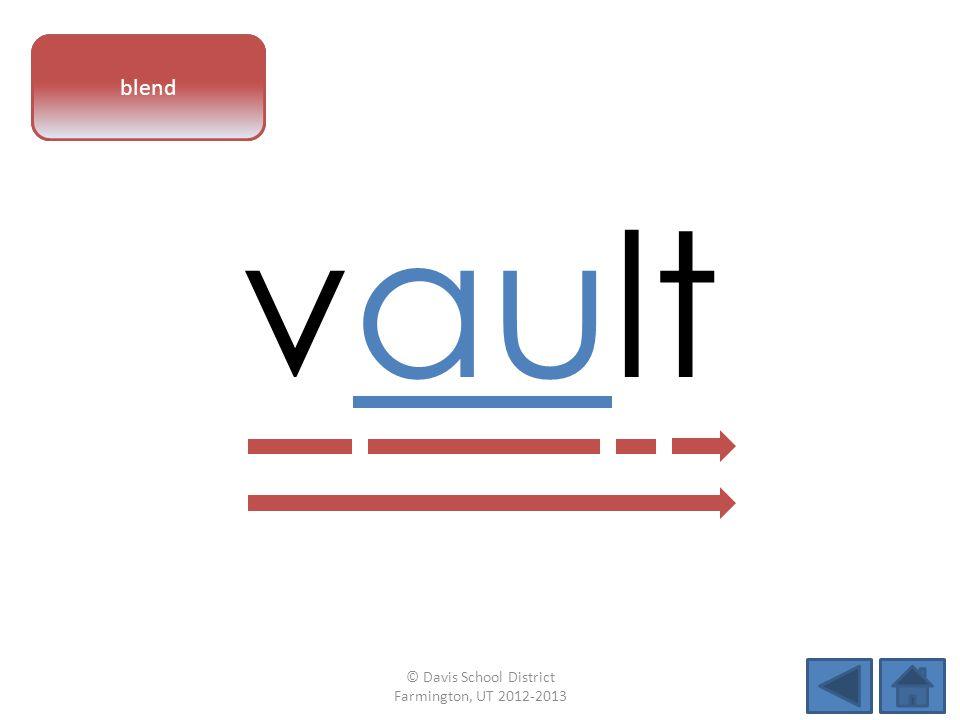 vowel pattern vault blend © Davis School District Farmington, UT 2012-2013