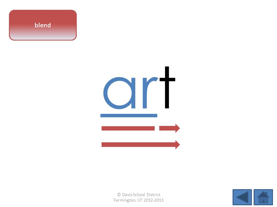 vowel pattern art blend © Davis School District Farmington, UT 2012-2013