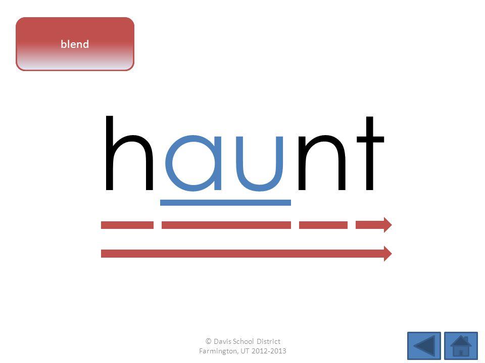 vowel pattern haunt blend © Davis School District Farmington, UT 2012-2013